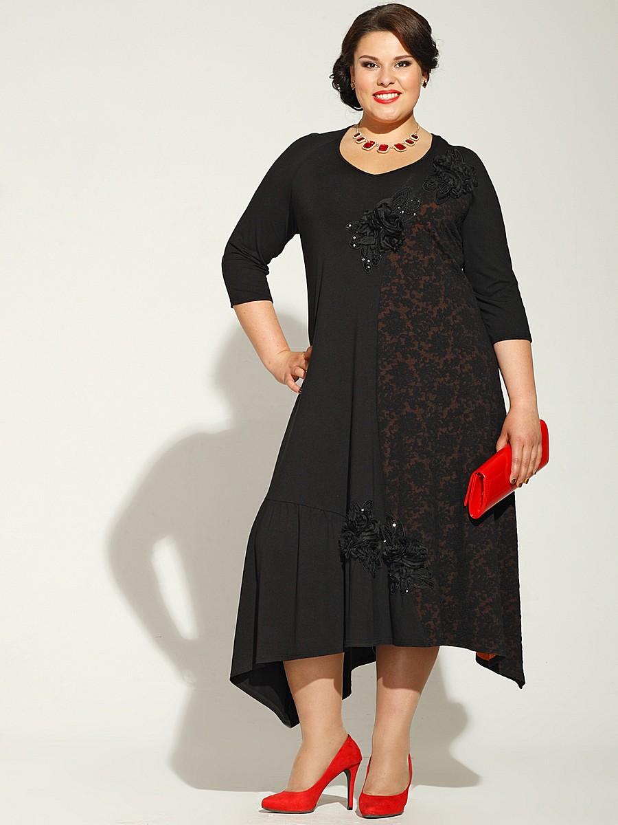 e5ba7e40eb3 Асимметричное платье для полных