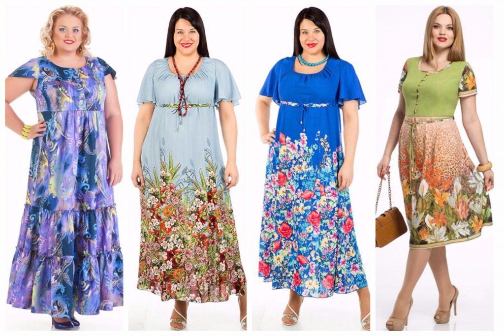 Платья из штапеля полных женщин