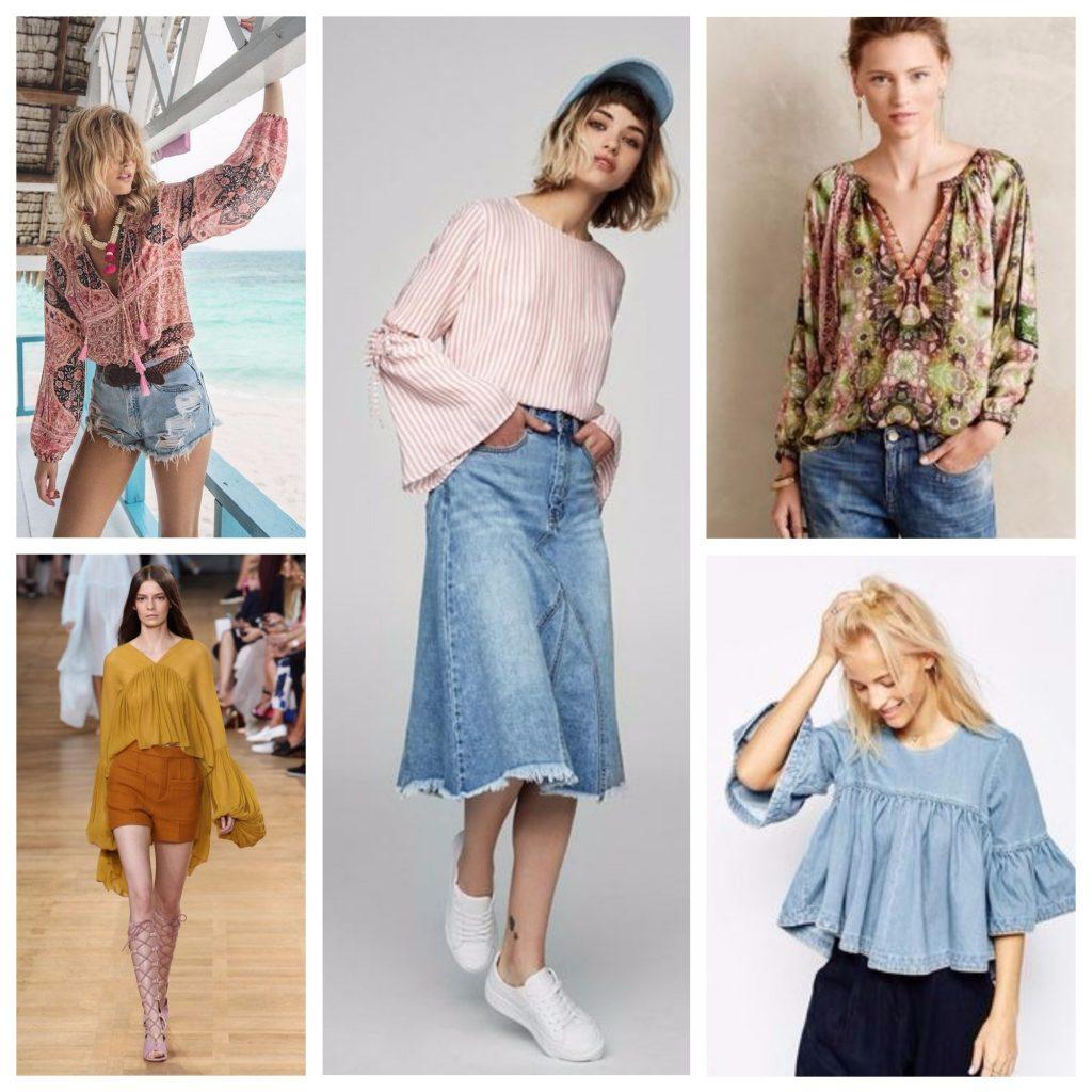 Блузки в стиле ретро летом 2018