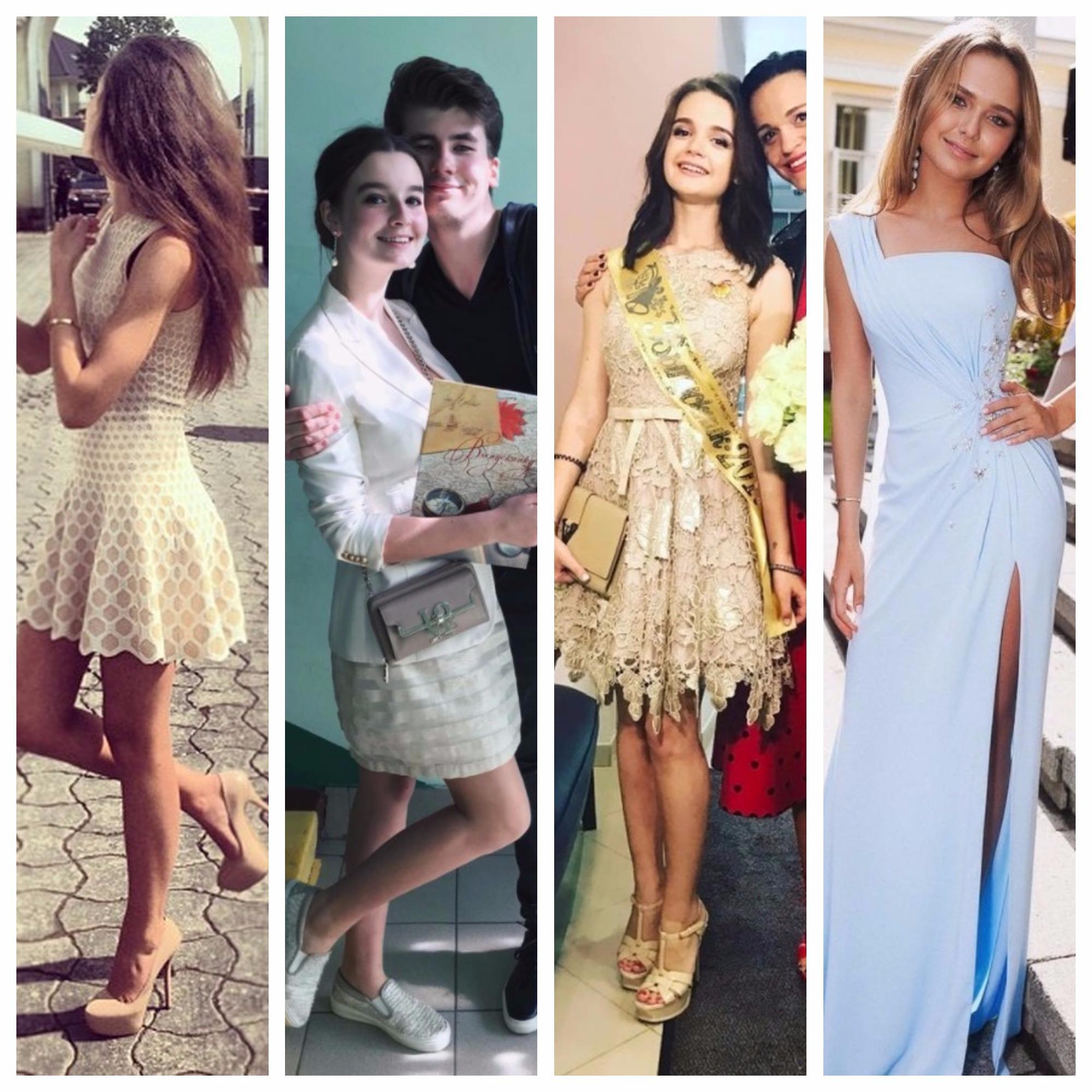 Какие выпускные платья выбирают дочери российских знаменитостей