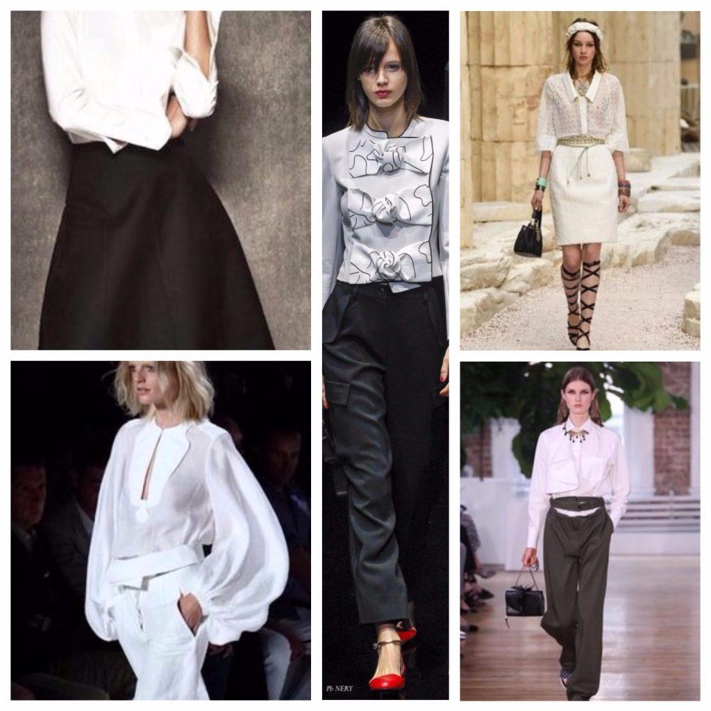 Классические белые блузки летом 2018