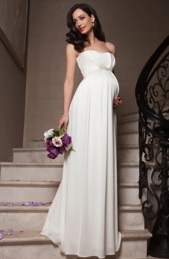 Свадебные платья для беременных в стиле Ампир