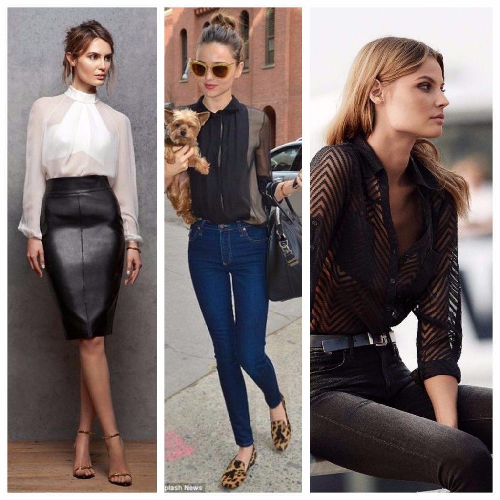 Модные прозрачные блузки летом 2018