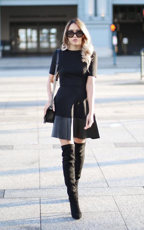 Черное платье можно носить в прохладное время года