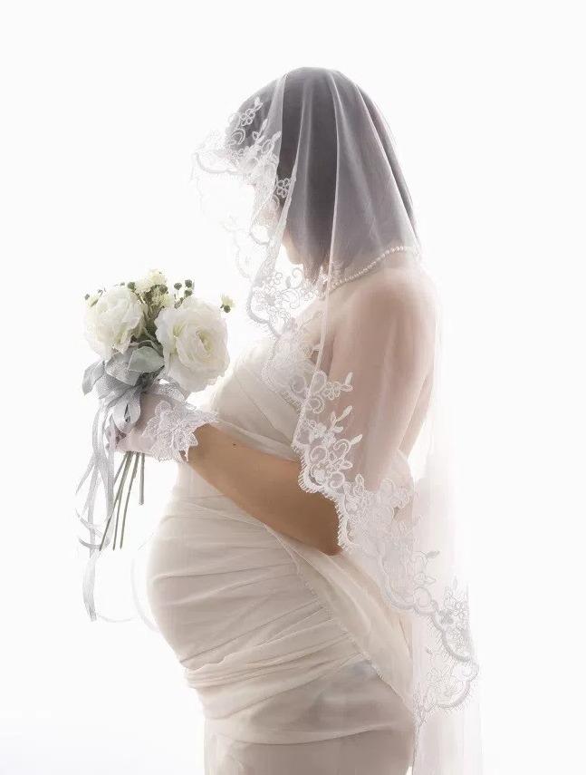 Фата для беременной невесты