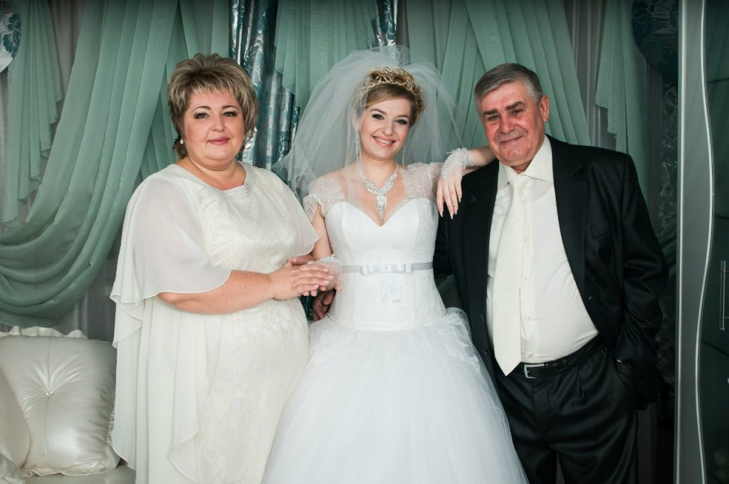 Платье для полных мам невесты