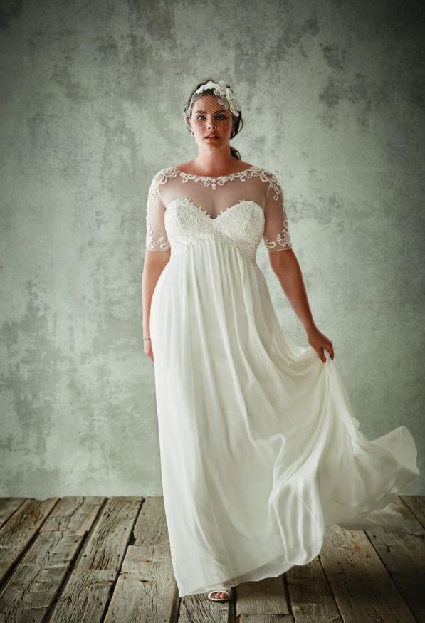 Свадебные платья Ампир для полных